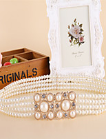 Women Fashion And Elegant Pearl Decoration Belt Party/Casual Acrylic Others Wide Belt