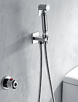 Bathroom/Toilet Handheld Shattaf Bidet Shower Spray, With Thermostatic Faucet Valve And 150 cm Stainless Steel Hose