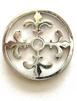 Naisten 33mm metalliseos mi Monedassa hopea fleur de lis kolikon kolikon haltijalle riipus