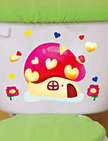 Stickers muraux mur style autocollants 3d petit champignon muraux PVC autocollants