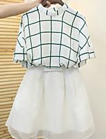Women's White Blouse Short Sleeve