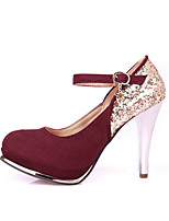 Women's Shoes Synthetic Stiletto Heel Heels/Basic Pump Pumps/Heels Office & Career/Dress/Casual Black/Red