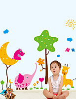 Wall Stickers Wall Decals Style Cartoon Animal Paradise PVC Wall Stickers