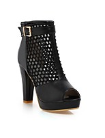 Women's Shoes Tulle/ Stiletto Heel Peep Toe/Platform/Fashion Boots Boots Outdoor/Office & Career/Casual Multi-color