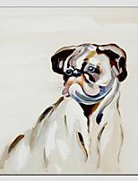 pittura ad olio di stile freddo cane, materiale tela con telaio teso pronto da appendere formato: 70 * 70 cm.