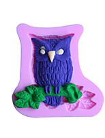 utensilios para hornear de silicona molde fondant owl decoración de la torta del molde