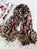 Women's Fashion 100% Wool Butterfly Printed Scarf