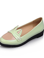 Women's Spring / Summer / Fall Wedges / Comfort / Round Toe PU Office & Career / Dress / Casual Wedge Heel Split JointBlack / Green /