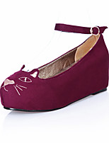 Women's Shoes Wedge Heel Wedges/Round Toe/Closed Toe Pumps/Heels Outdoor/Office & Career/Casual Black/Blue/Red