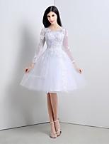 동창회 칵테일 파티 드레스 V 넥 차 길이 얇은 명주 그물 드레스