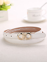 Women Leisure Faux Leather Skinny Belt , Party / Casual Leather