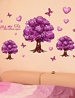 Wall Stickers Wall Decals, Romantic Purple Trees Stickers