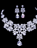 Women's Alloy Wedding/Party Jewelry Set With Rhinestone(More color)