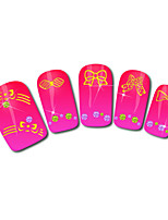 Bow Design Hot Stamping Nail Art Stickers