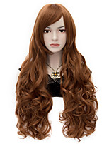 The European And American Wind  Brown Universal Face Curly Hair Fleeciness And Big Volume