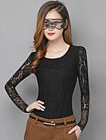 Women's Pink/Black/Beige T-shirt Long Sleeve