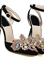 Women's Shoes Velvet Stiletto Heel Heels Pumps/Heels Party & Evening/Dress/Casual Black