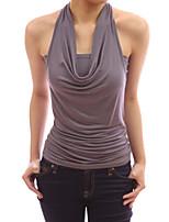 Women's Fashion Sexy Backless Sleeveless T-shirt