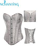 Senchanting Women's Steel Boned Corset Burlesque Fancy Showgirl Costumes Bustier
