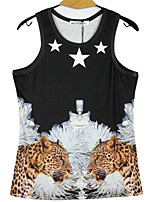 LinZiYong1981® Men's Fashion All Match 3D Oil Painting Vest