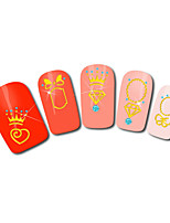 Crown Love Design Hot Stamping Nail Art Stickers