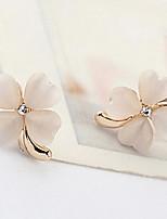 Korea Style Opal Flower Stud Earrings