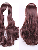 New Style Wave Mix Color Hair Wigs Dark Brown Synthetic Wave Hair Wigs Fashion