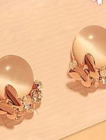 Butterfly Crystal Opal Stud Earring
