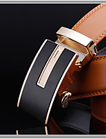 Men's Genuine Leather Ratchet Belt Business Belts