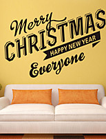 Wall Stickers Wall Decals Style Merry Christmas English Words & Quotes PVC Wall Stickers