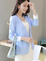 Women's A Buckle Solid Color Slim Blazer