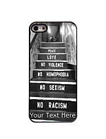 Personalized Gift Peace and Love Design Aluminum Hard Case for iPhone 5/5S