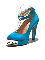 Women's Shoes Synthetic Stiletto Heel Heels/Basic Pump Pumps/Heels Office & Career/Dress/Casual Black/Blue/Khaki