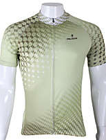 PaladinSport Men's Short Sleeve Cycling Jersey New Style Green Point DX291 100% Polyester