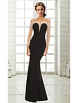 Formal Evening Dress Trumpet/Mermaid Off-the-shoulder Floor-length Chiffon Dress
