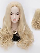 European Style Fashion Hair Bleach Blonde High Quality Synthetic Wigs
