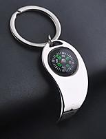 Stainless Steel Compass Bottle Opener Key Chain Ring Keyring