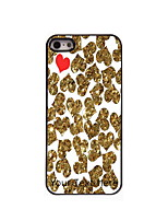 Personalized Gift Golden and Red Heart Design Aluminum Hard Case for iPhone 5/5S