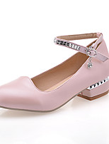 Women's Shoes  Low Heel Comfort Pumps/Heels Office & Career/Dress Brown/Pink/White