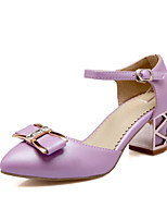 Women's Shoes  Chunky Heel Pointed Toe Pumps/Heels Outdoor/Office & Career/Dress Black/Purple/White