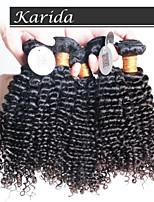 4 pcs/Lot Brazilian Kinky Curly Virgin Hair, Unprocessed Virgin Queen Brazilian Human Hair