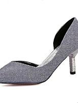 Women's Shoes Glitter Kitten Heel Heels/Pointed Toe Pumps/Heels Casual Gray/Gold