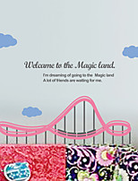 Wall Stickers Wall Decals, Modern Roller coaster PVC Wall Stickers