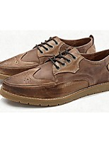 Men's Shoes Casual Suede Oxfords Brown/Beige