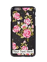 Personalized Gift The Elegant Flower Design Aluminum Hard Case for iPhone 6
