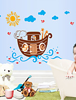 Wall Stickers Wall Decals Style Cartoon Animal Boat PVC Wall Stickers