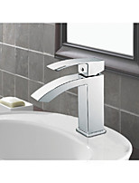 Single Handle Waterfall Bathroom Vanity Sink Faucet With Extra Large Rectangular Spout