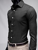 High-Quality Chinese Style Mens Shirts Fashion 2015 Long-Sleeve Shirt 3 Color M-2XL