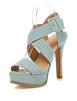 Women's Shoes Stiletto Heel Open Toe/Platform/Slingback Sandals Dress Black/Beige/Blue/Pink/Brown