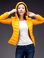 Women's Solid Coat , Casual Long Sleeve